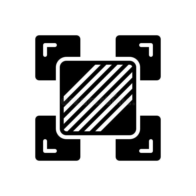 Μαύρο στερεό εικονίδιο για τη διαφορά, τη διαχείριση και τη λογιστική διανυσματική απεικόνιση