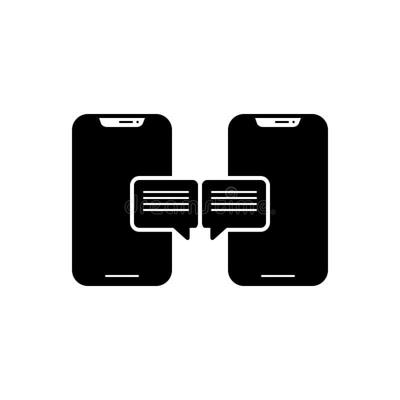Μαύρο στερεό εικονίδιο για τη συνομιλία, την ομιλία και το μήνυμα ελεύθερη απεικόνιση δικαιώματος