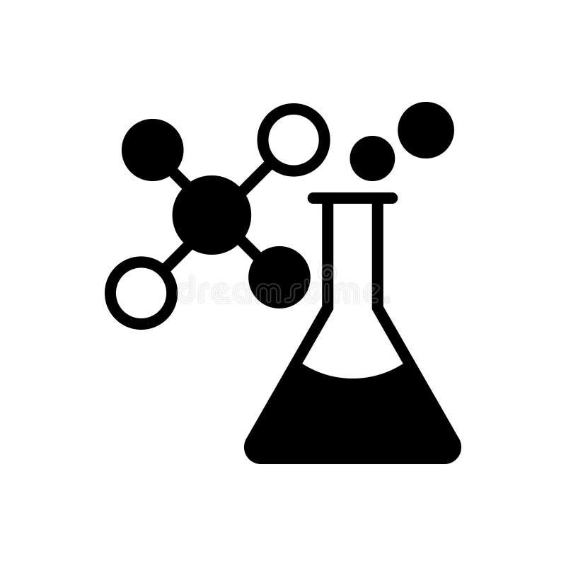 Μαύρο στερεό εικονίδιο για τη χημεία, ατομικός και χημικός ελεύθερη απεικόνιση δικαιώματος