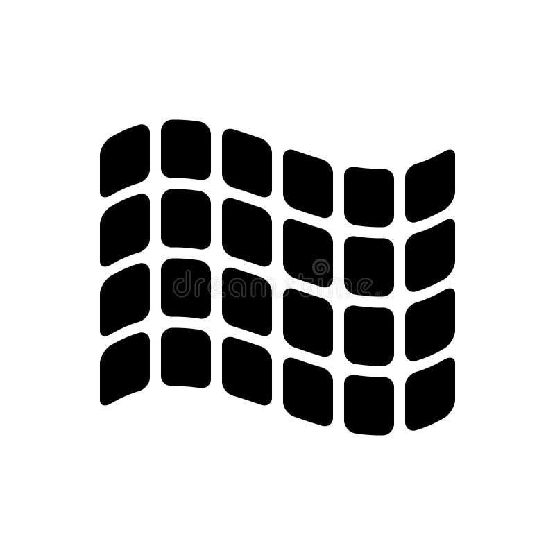 Μαύρο στερεό εικονίδιο για τις εκθέσεις, μουσείο και καλλιτεχνικός απεικόνιση αποθεμάτων