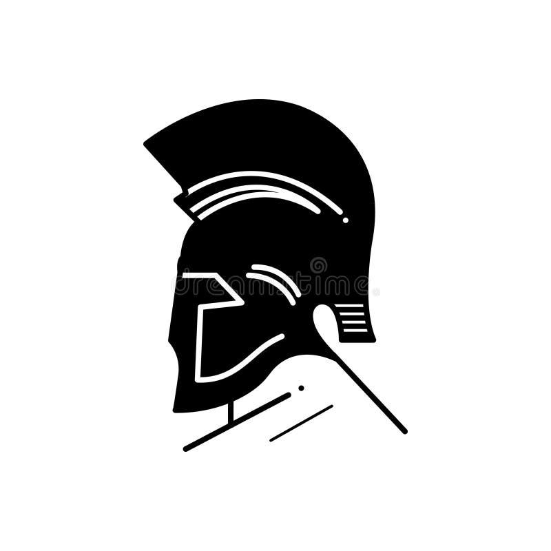 Μαύρο στερεό εικονίδιο για τον ελληνικούς Θεό, την Αίγυπτο και τη θεά ελεύθερη απεικόνιση δικαιώματος