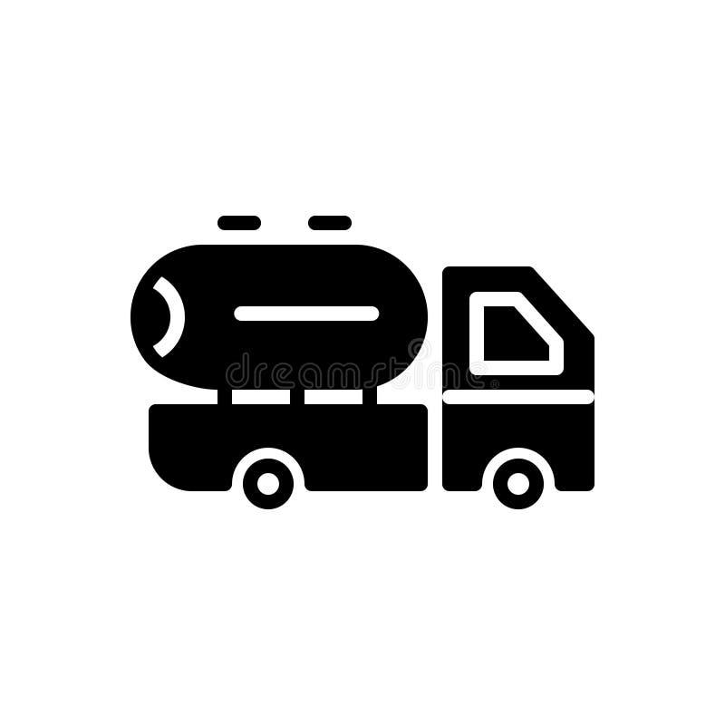 Μαύρο στερεό εικονίδιο για τον προμηθευτή, το έλαιο και το γάλα ελεύθερη απεικόνιση δικαιώματος