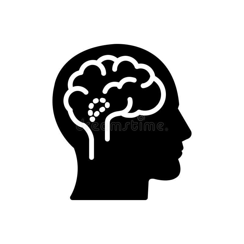 Μαύρο στερεό εικονίδιο για τον υποθάλαμο, τον αδένα και τον εγκέφαλο ελεύθερη απεικόνιση δικαιώματος