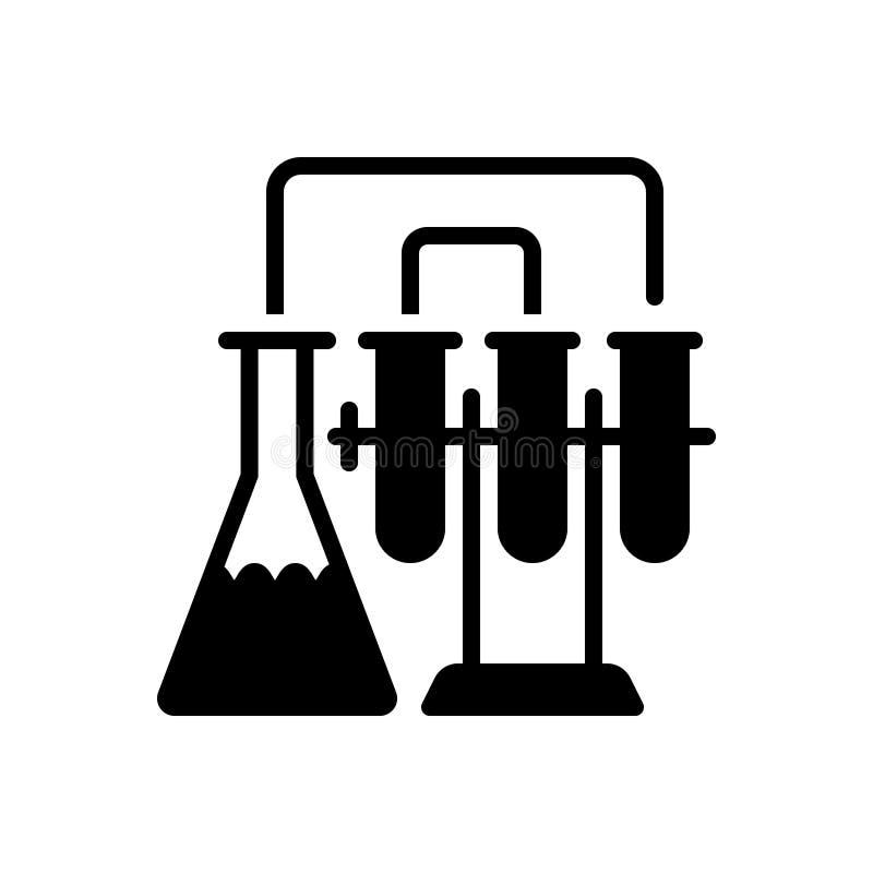 Μαύρο στερεό εικονίδιο για το εργαστήριο, την παθολογία και το εργαστήριο ελεύθερη απεικόνιση δικαιώματος