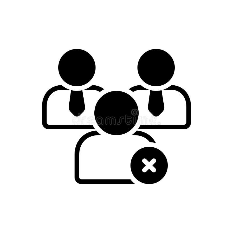 Μαύρο στερεό εικονίδιο για το μη μέλος, ξένος και εξωτερικός ελεύθερη απεικόνιση δικαιώματος