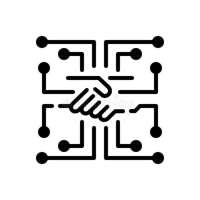 Μαύρο στερεό εικονίδιο για ψηφοθετημένος, ψηφιοποιημένος και ψηφιακή αναλογική μεταλλαγή απεικόνιση αποθεμάτων
