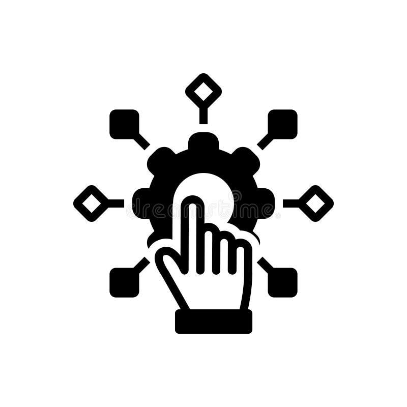 Μαύρο στερεό εικονίδιο για Adapt, την προσαρμογή και την αλλαγή απεικόνιση αποθεμάτων