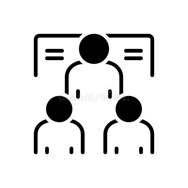 Μαύρο στερεό εικονίδιο για Mentorship, μέλος και εταιρικός απεικόνιση αποθεμάτων