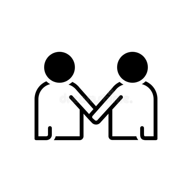 Μαύρο στερεό εικονίδιο για Mentorship, μέλος και εταιρικός διανυσματική απεικόνιση