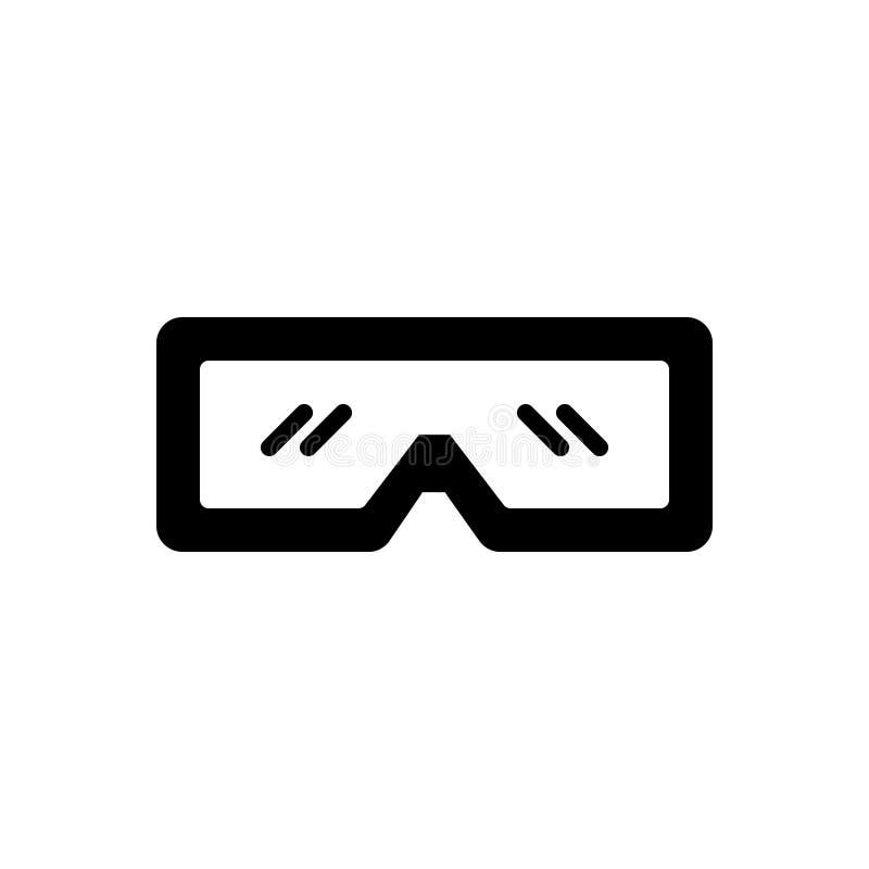 Μαύρο στερεό εικονίδιο για Stereograph, stereoptican στερεοφωνικό συγκρότημα αγγελιών ελεύθερη απεικόνιση δικαιώματος