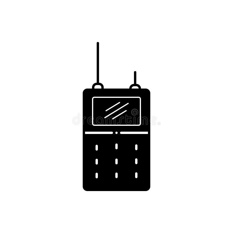 Μαύρο στερεό εικονίδιο για Walkie, την ομιλούσα ταινία και την επικοινωνία διανυσματική απεικόνιση