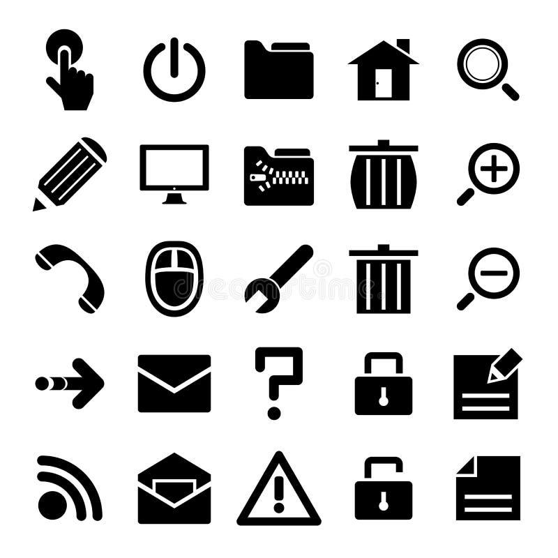 μαύρο σύνολο Διαδικτύου απεικόνιση αποθεμάτων