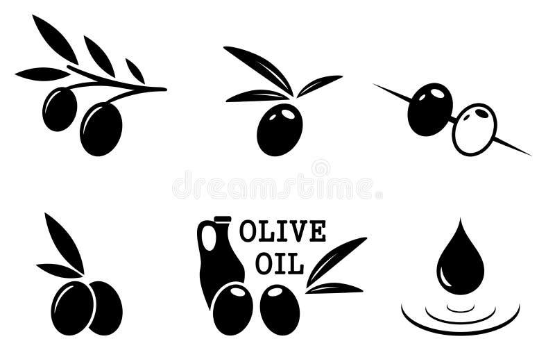 μαύρο σύνολο ελιών ελεύθερη απεικόνιση δικαιώματος
