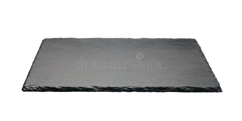 μαύρο τετραγωνικό πιάτο πετρών στοκ φωτογραφία με δικαίωμα ελεύθερης χρήσης