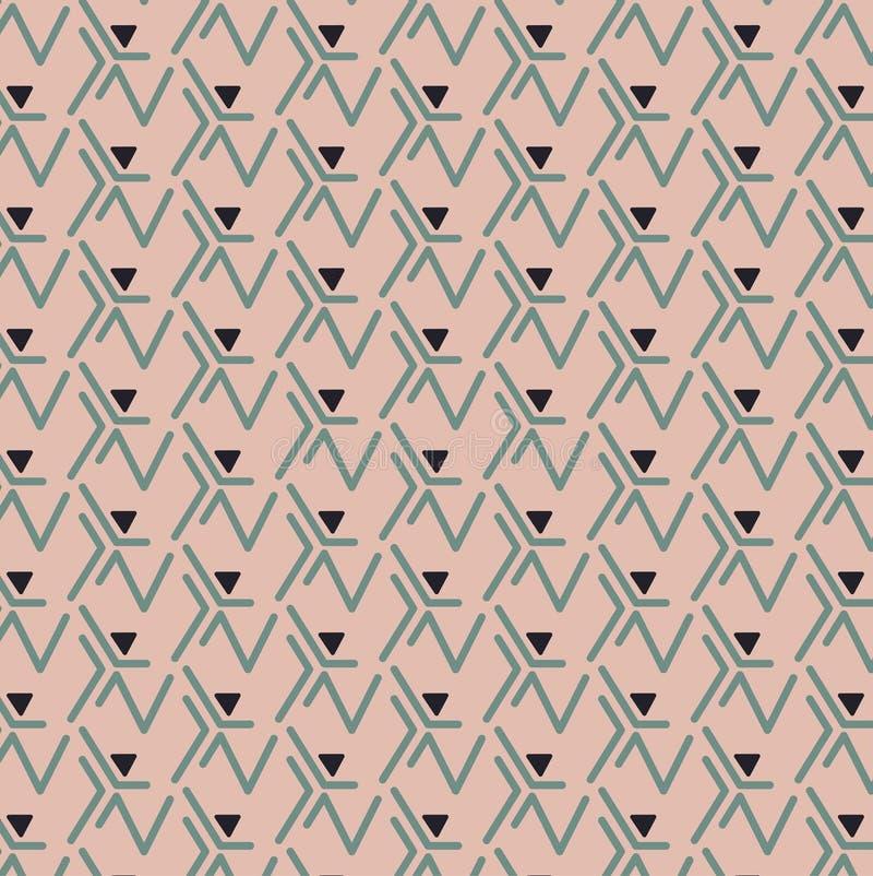Μαύρο τρίγωνο Πράσινων Γραμμών τυπωμένων υλών διανυσματική απεικόνιση