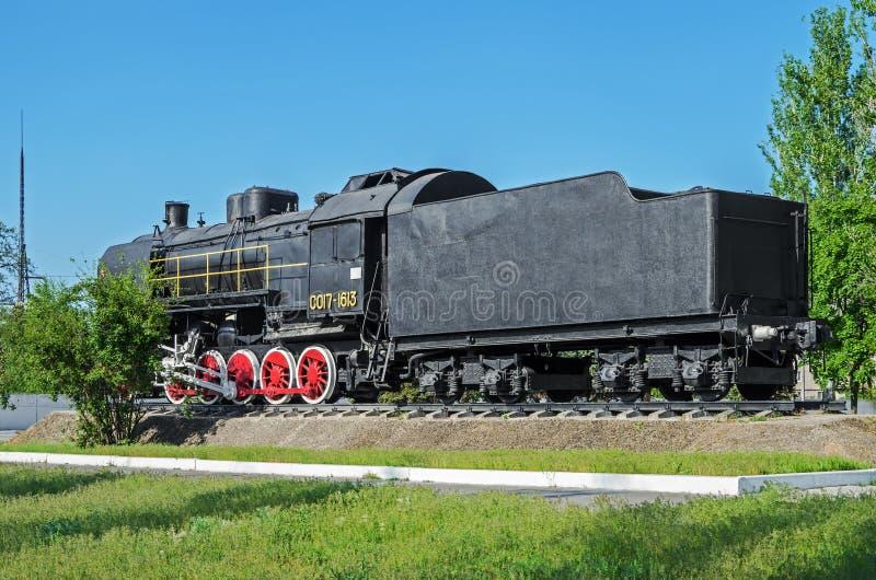 Μαύρο τραίνο ατμού μνημείων στοκ φωτογραφίες με δικαίωμα ελεύθερης χρήσης