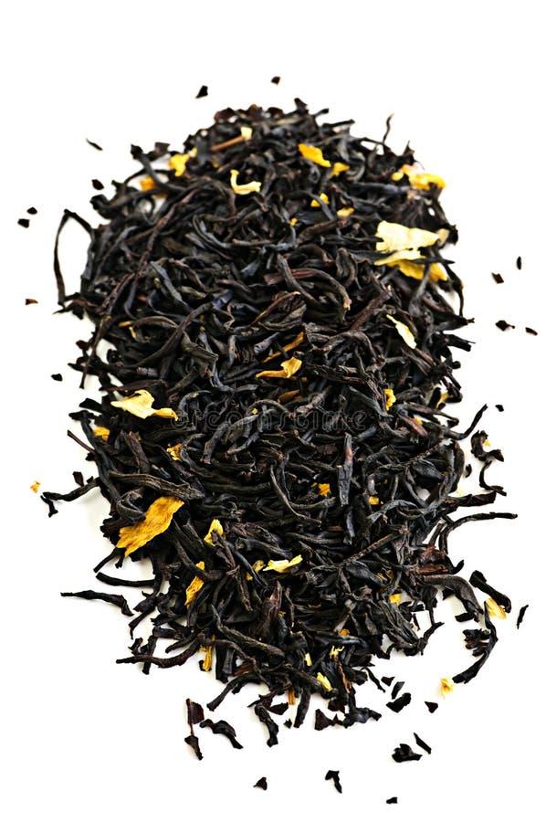 μαύρο τσάι φύλλων στοκ φωτογραφίες