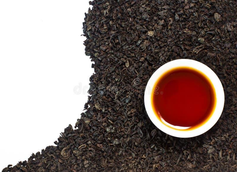 μαύρο τσάι στοκ εικόνες