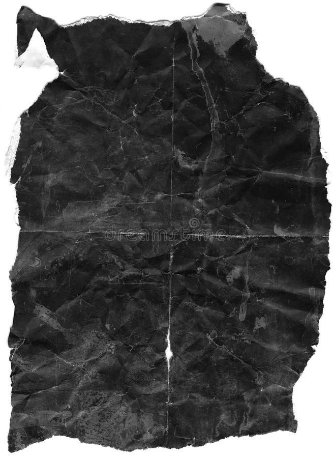 μαύρο τσαλακωμένο έγγραφ&omi στοκ φωτογραφία με δικαίωμα ελεύθερης χρήσης