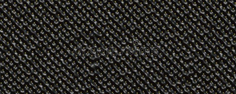 Μαύρο υπόβαθρο δερμάτων φραουλών στοκ φωτογραφίες με δικαίωμα ελεύθερης χρήσης
