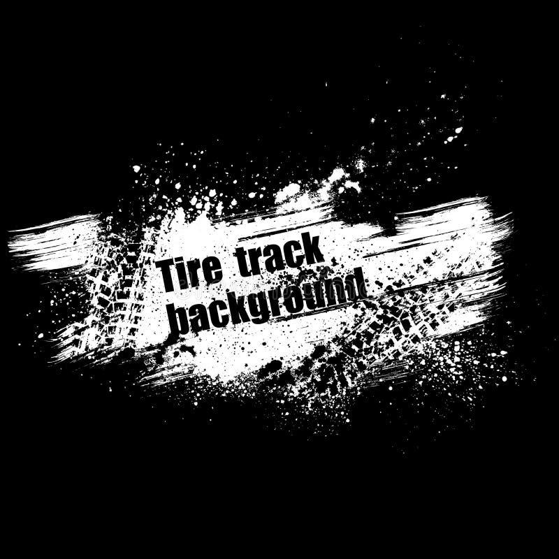 Μαύρο υπόβαθρο διαδρομής ροδών Grunge απεικόνιση αποθεμάτων