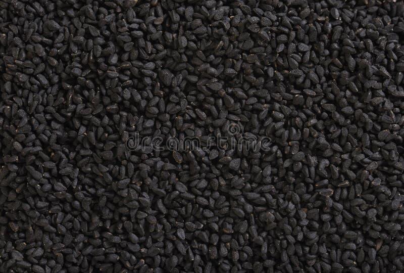 Μαύρο υπόβαθρο κύμινου στοκ φωτογραφία