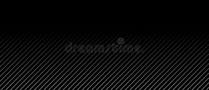Μαύρο υπόβαθρο με τα γκρίζα λωρίδες και τη μετάβαση χρώματος διανυσματική απεικόνιση