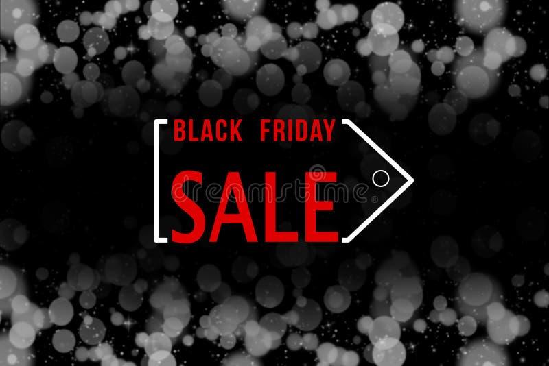 Μαύρο υπόβαθρο πώλησης Παρασκευής στοκ εικόνες