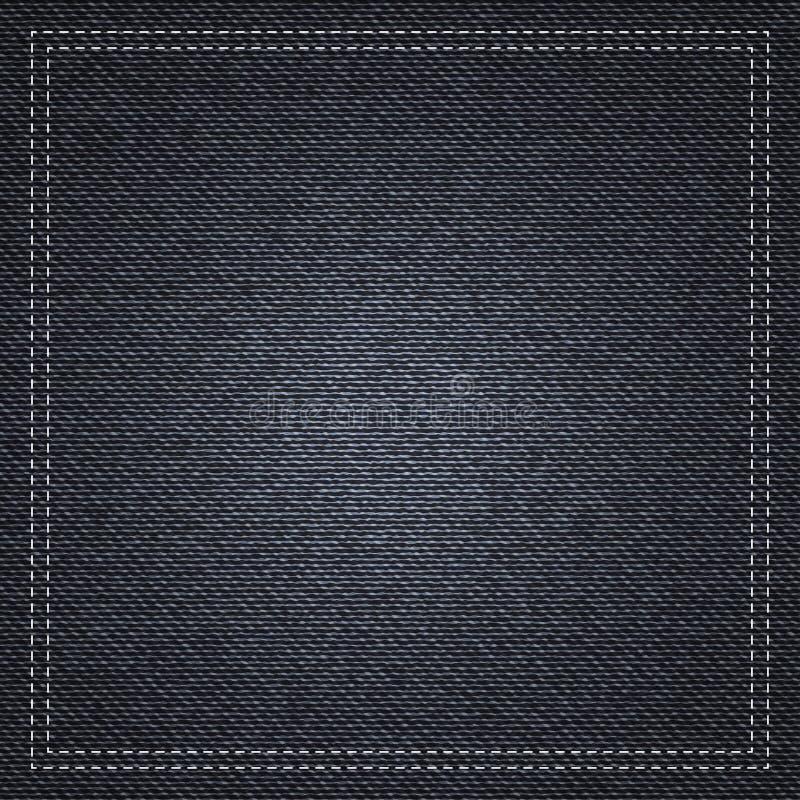 Μαύρο υπόβαθρο σύστασης τζιν διανυσματική απεικόνιση