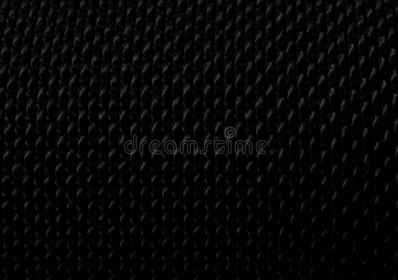 Μαύρο υφαμένο υλικό κατασκευασμένο υπόβαθρο στοκ εικόνες