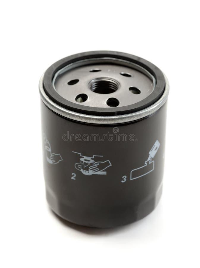 Μαύρο φίλτρο πετρελαίου αυτοκινήτων στοκ εικόνα με δικαίωμα ελεύθερης χρήσης