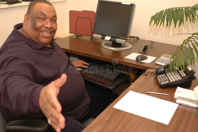 μαύρο φιλικό γραφείο ατόμων στοκ εικόνα