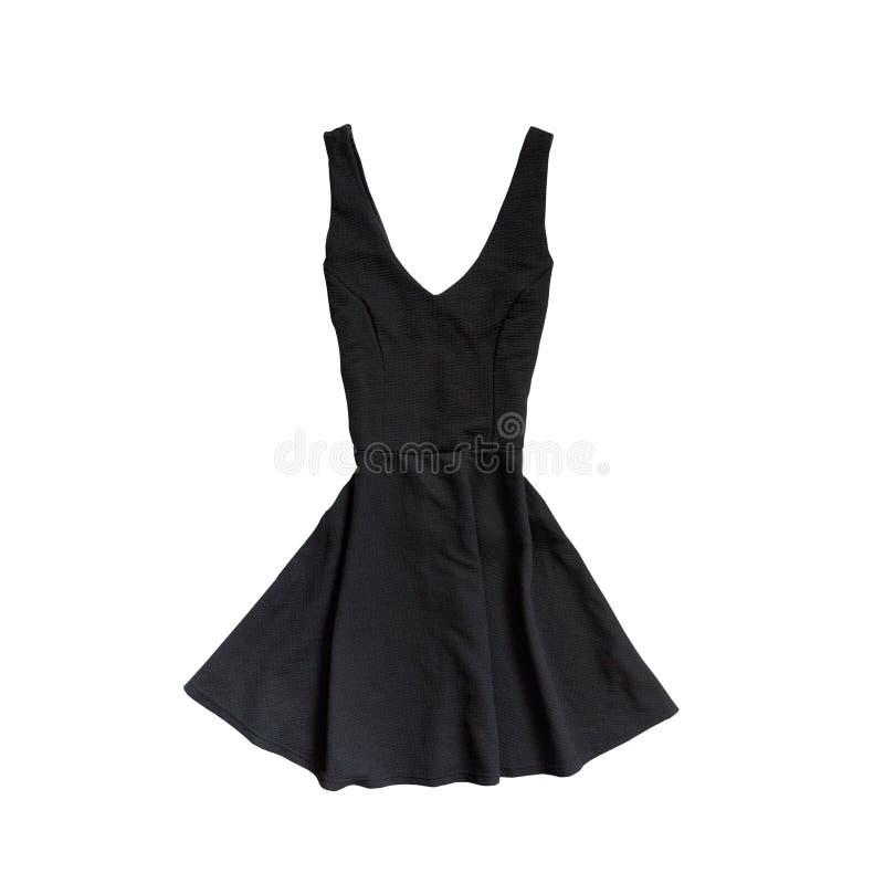 μαύρο φόρεμα λίγα μοντέρνη έννοια απομονωμένος Άσπρο backgro στοκ φωτογραφίες με δικαίωμα ελεύθερης χρήσης