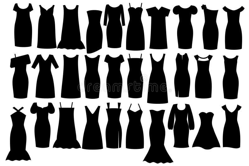 μαύρο φόρεμα λίγα διανυσματική απεικόνιση