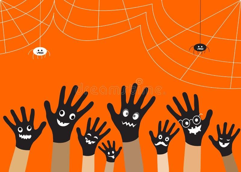 Μαύρο χέρι αποκριών Διανυσματικό EPS 10 στοκ φωτογραφία