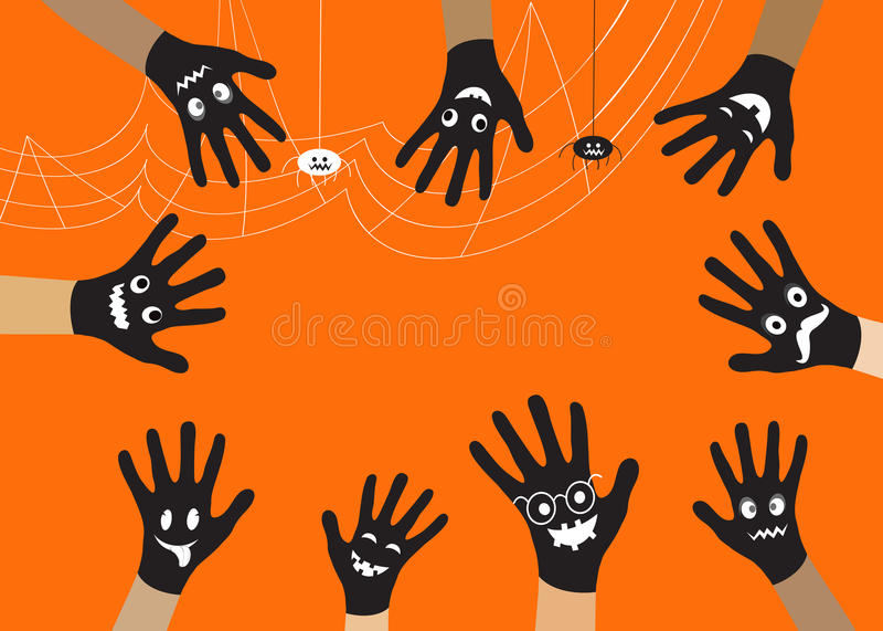 Μαύρο χέρι αποκριών στοκ εικόνες με δικαίωμα ελεύθερης χρήσης