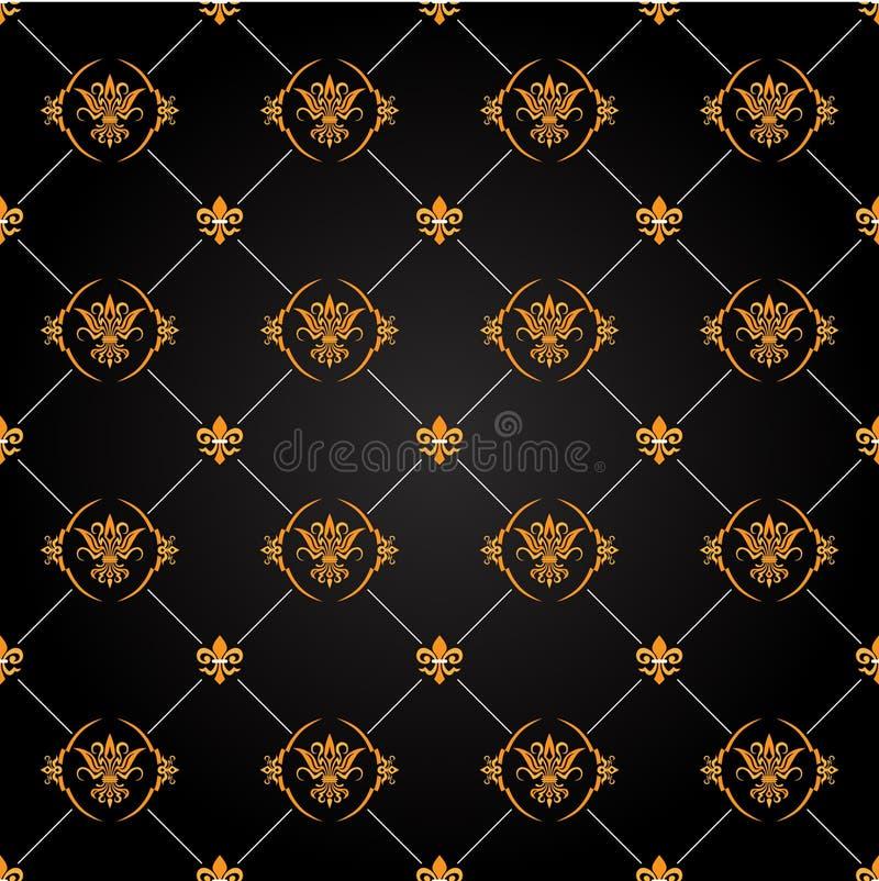 μαύρο χρυσό πρότυπο στοκ εικόνα