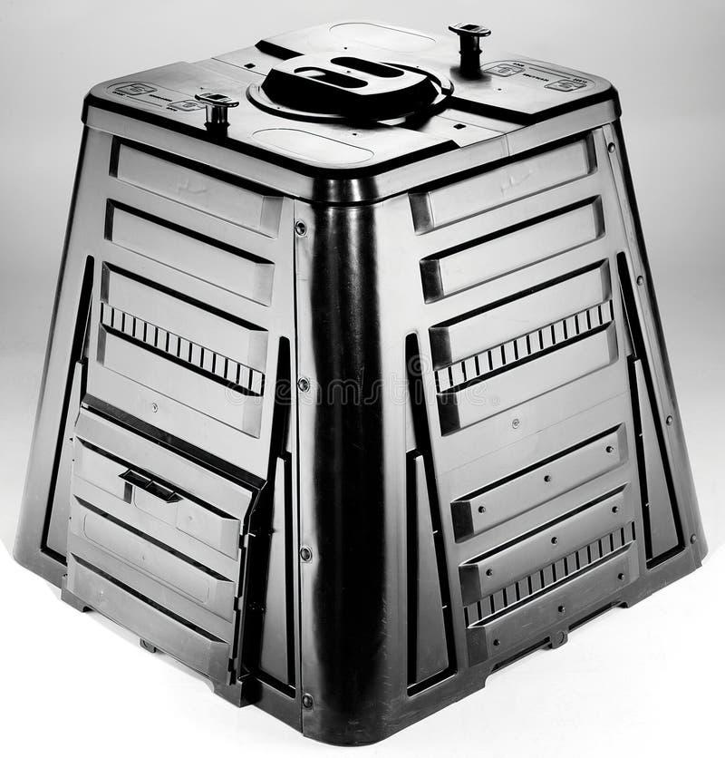 μαύρο composter στοκ φωτογραφία με δικαίωμα ελεύθερης χρήσης