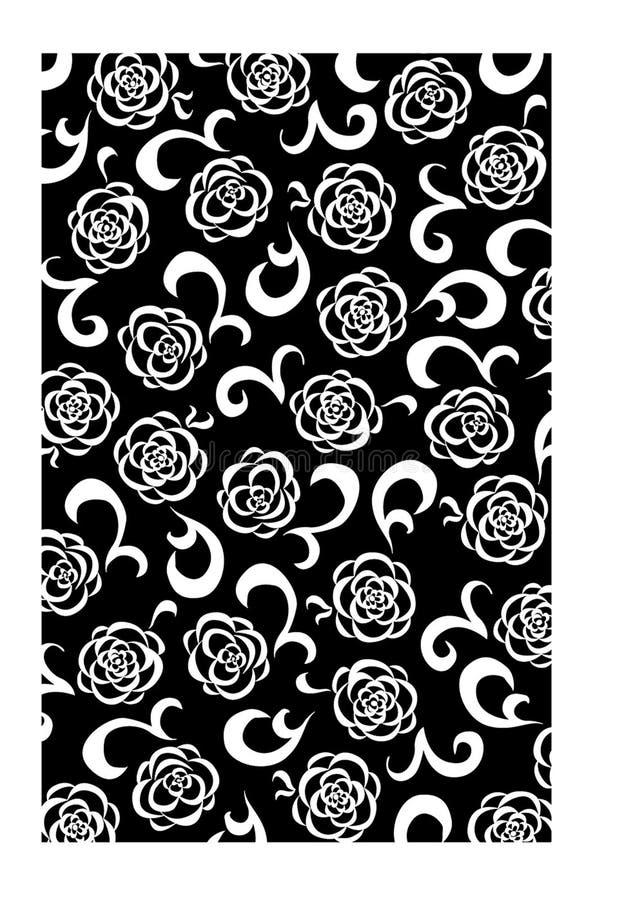 Download μαύρο Floral λευκό ανασκόπηση&sigmaf Απεικόνιση αποθεμάτων - εικονογραφία από ανασκόπησης, πέταλα: 378522