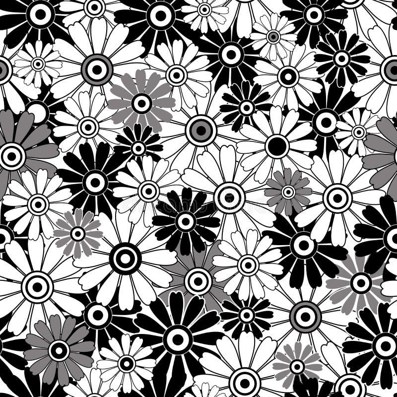 μαύρο floral πρότυπο που επανα&lam διανυσματική απεικόνιση