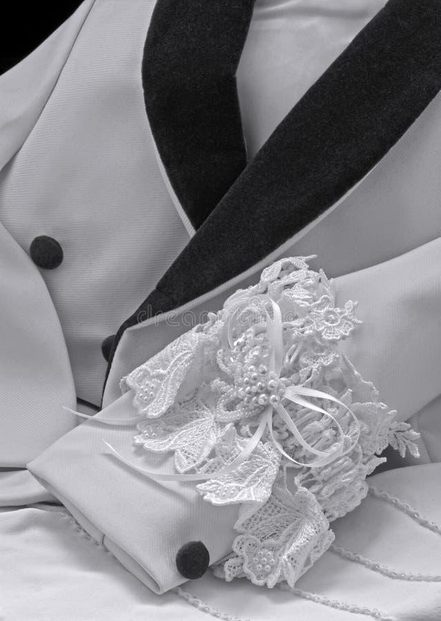 μαύρο formalwear garter γαμήλιο λευκό σ στοκ φωτογραφίες με δικαίωμα ελεύθερης χρήσης