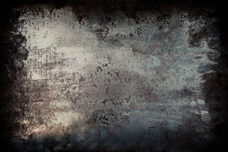 Μαύρο grunge υπόβαθρο τοίχων μετάλλων κατασκευασμένο με τις γρατσουνιές στοκ φωτογραφία με δικαίωμα ελεύθερης χρήσης
