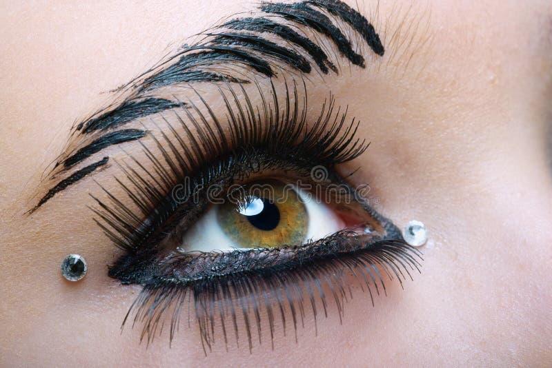 μαύρο makeup στοκ εικόνα με δικαίωμα ελεύθερης χρήσης