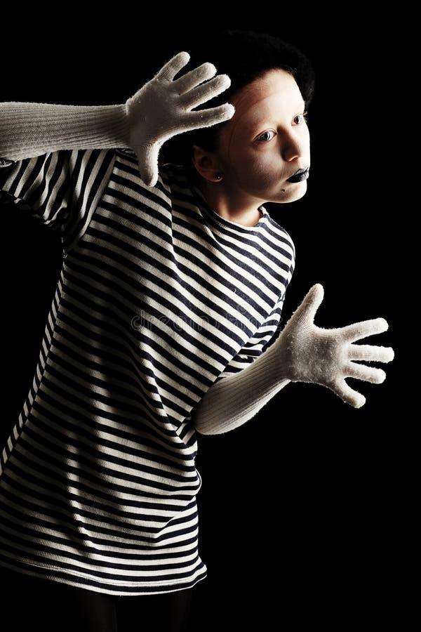 μαύρο mime στοκ φωτογραφία με δικαίωμα ελεύθερης χρήσης