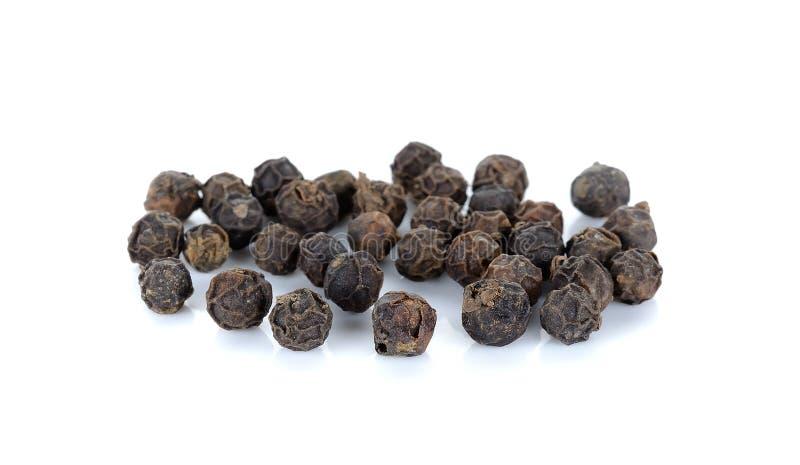 Μαύρο pepercorn που απομονώνεται στο άσπρο υπόβαθρο στοκ φωτογραφία με δικαίωμα ελεύθερης χρήσης