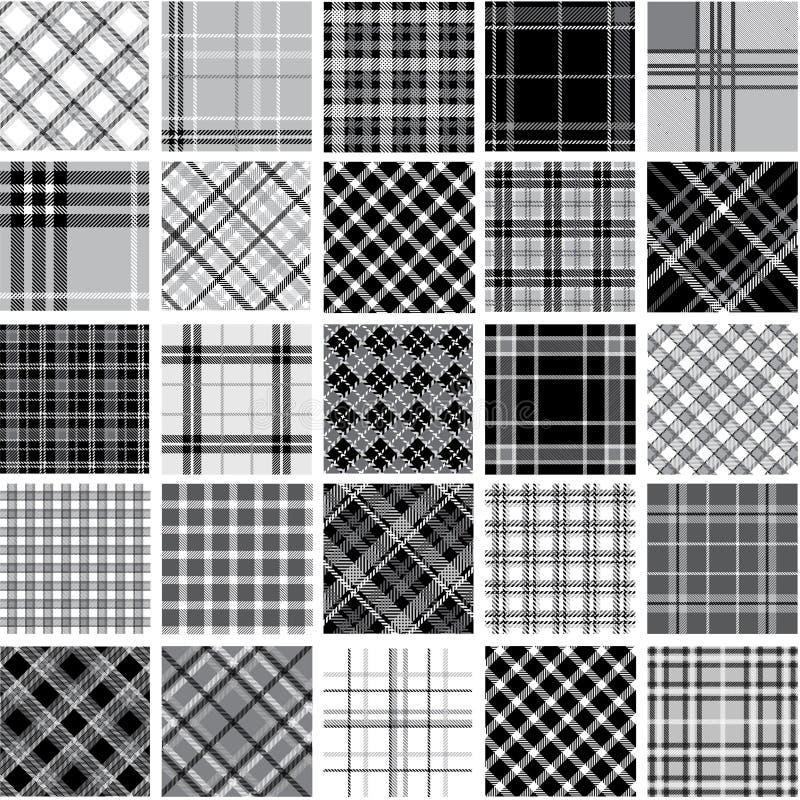 μαύρο plaid προτύπων καθορισμέν διανυσματική απεικόνιση