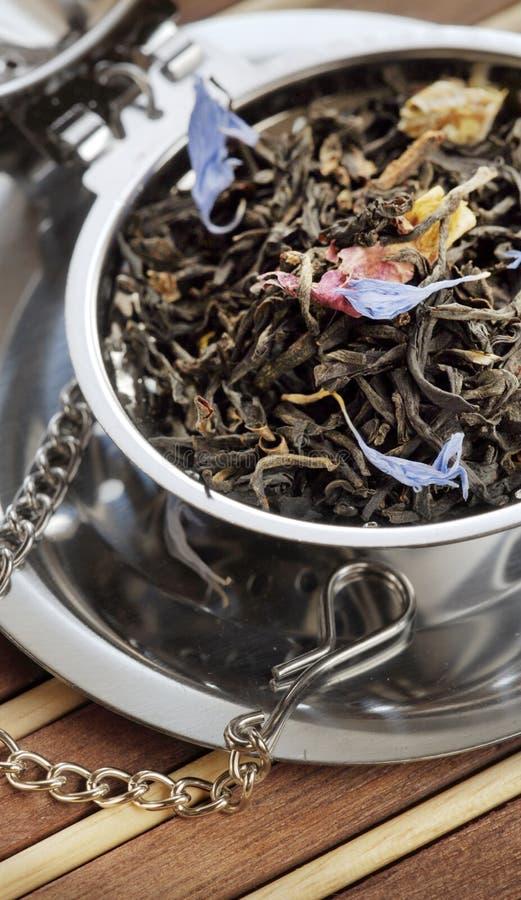 Μαύρο scented τσάι στοκ εικόνες