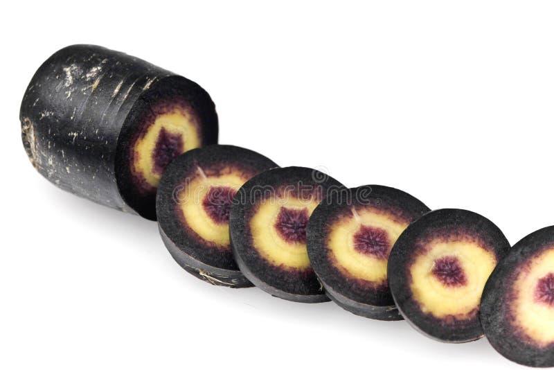 μαύρο scortzonera καρότων στοκ φωτογραφία