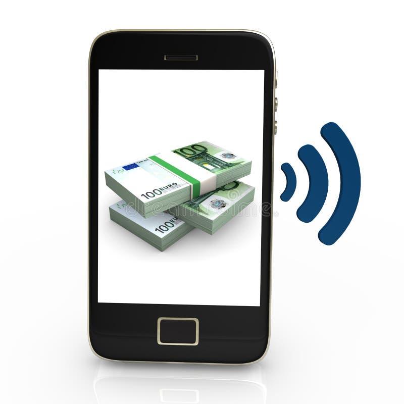 Ευρώ NFC ελεύθερη απεικόνιση δικαιώματος
