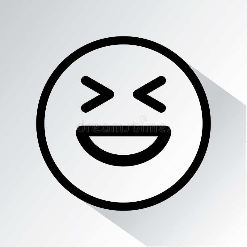 Μαύρο smiley γέλιου επίσης corel σύρετε το διάνυσμα απεικόνισης ελεύθερη απεικόνιση δικαιώματος